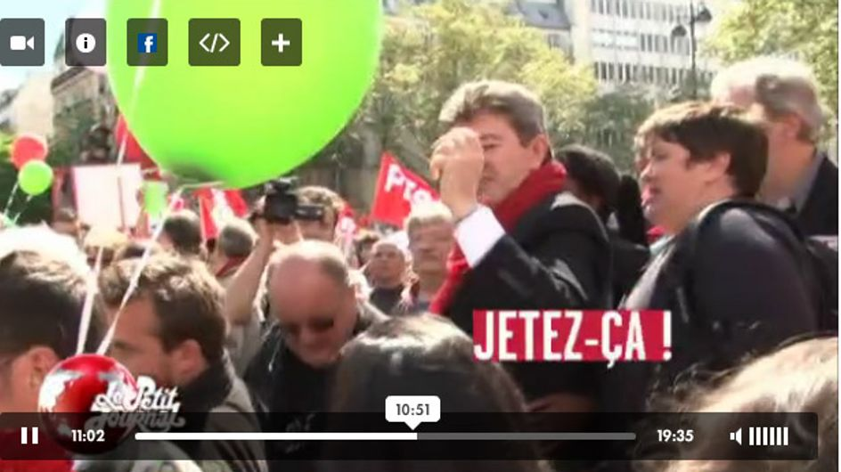 Quand Jean-Luc Mélenchon traite le petit journal de « vermine FN »