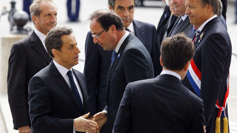 Hollande-Sarkozy : Fraternité républicaine pour le 8 mai (Photos)