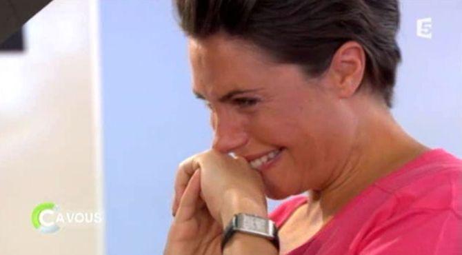 Alessandra Sublet en larmes