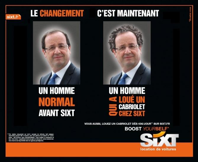 François Hollande cheveux