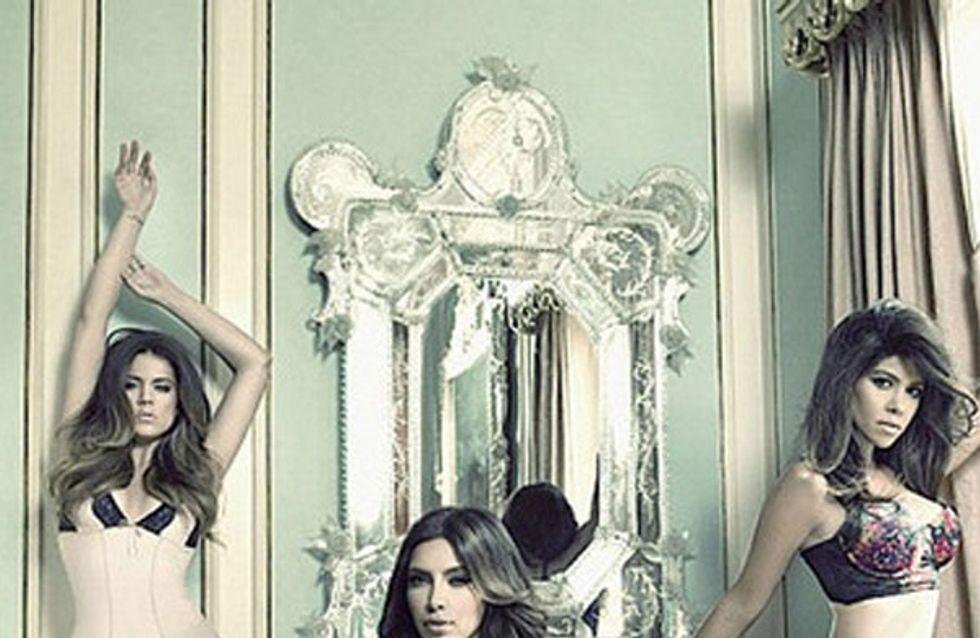 Les soeurs Kardashian une fois de plus en lingerie ! (Photos)