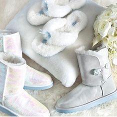 UGG : Une collection de bottes fourrées pour les mariées ! (Photos)