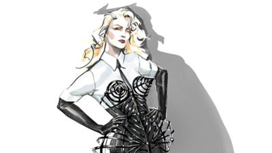 Madonna : Les premières images de ses tenues pour sa nouvelle tournée ! (Photos)