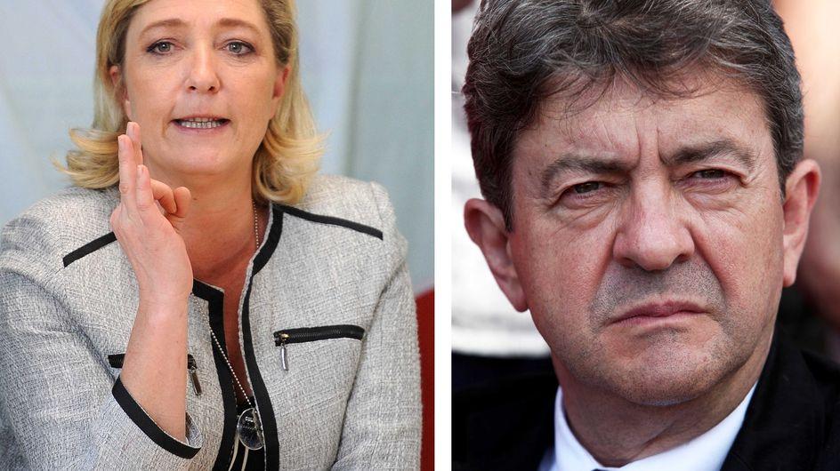Marine Le Pen : Ses faux tracts de Jean-Luc Mélenchon font le buzz !