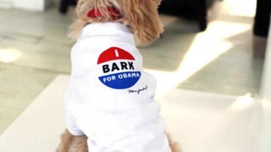 Marc Jacobs : Ses t-shirts pour chiens pro Obama (Photos)