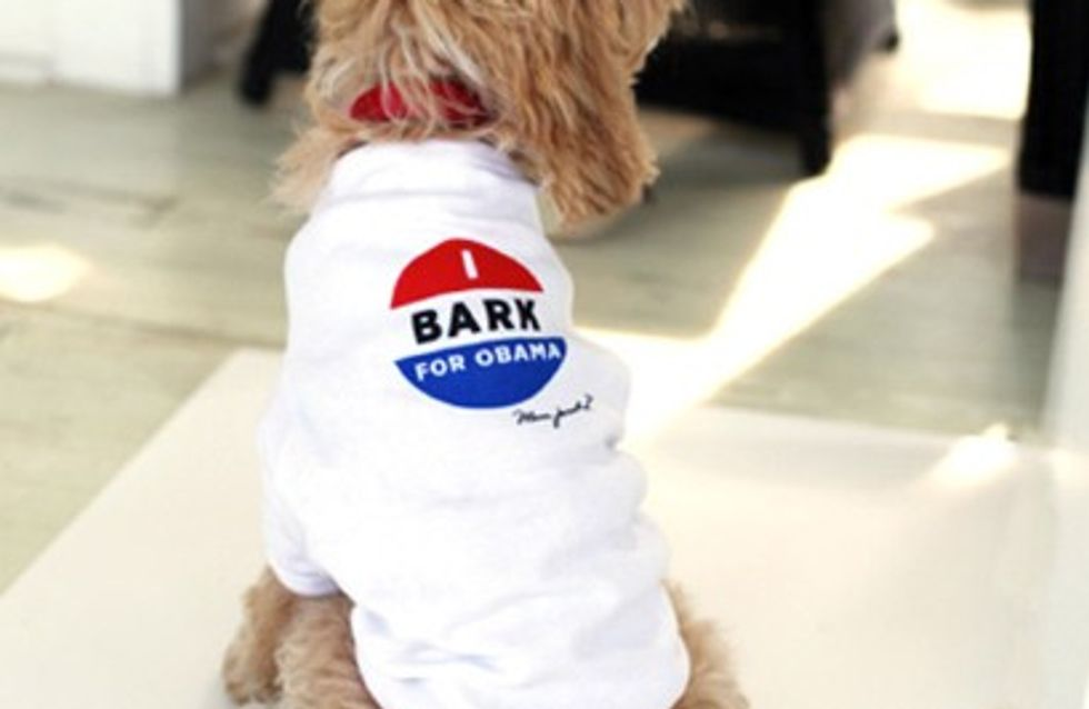 Marc Jacobs : Ses t-shirts pour chiens pro Obama (Photos)