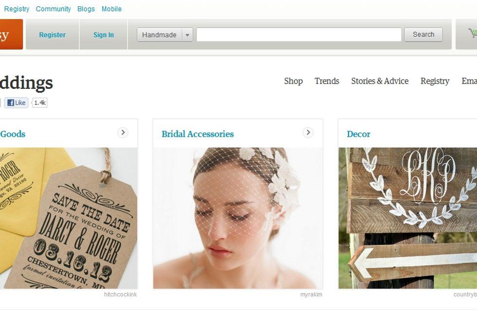 Etsy : Le site se lance dans le mariage !