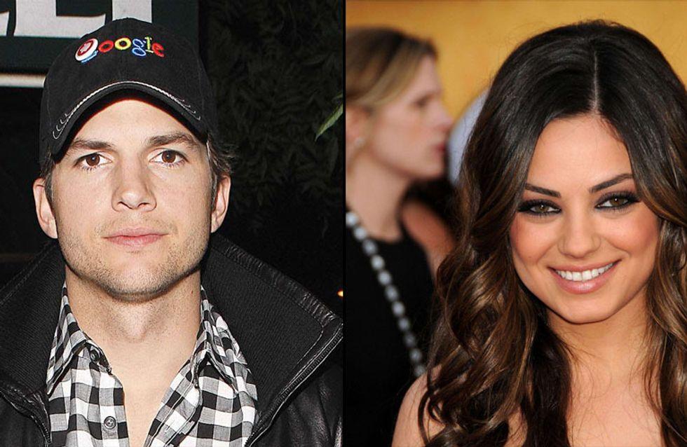 Ashton Kutcher et Mila Kunis : Pris en flag' en train de se câliner (Photos)