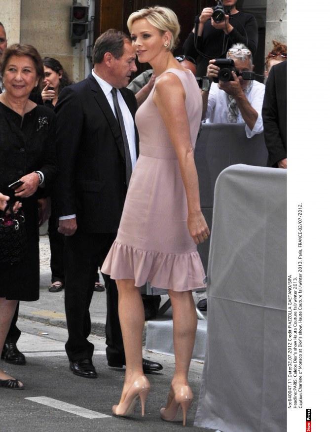 Charlene de Monaco défilé dior fashion week
