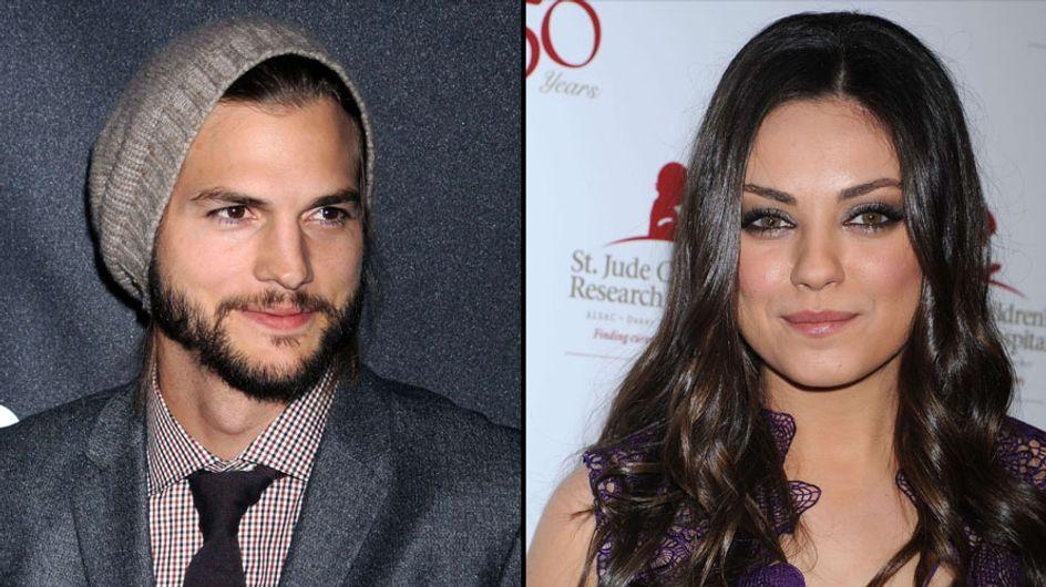 Ashton Kutcher et Mila Kunis : Le baiser ! (Photos)