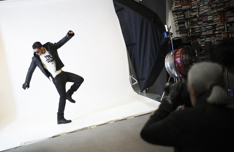 Karl Lagerfeld : Découvrez le making-of de sa campagne avec Baptiste Giabiconi ! (Photos)