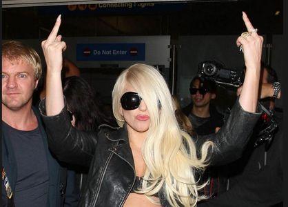 Lady gaga à l'aéroport de Los Angeles
