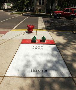 Monopoly géant rues chicago