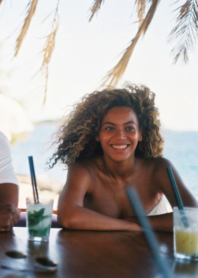 Beyoncé, vacances, plage
