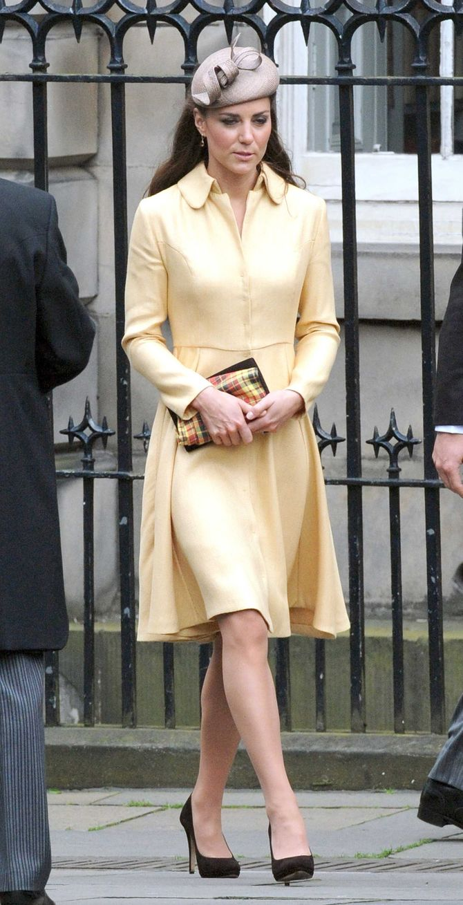Kate Middleton en robe-manteau