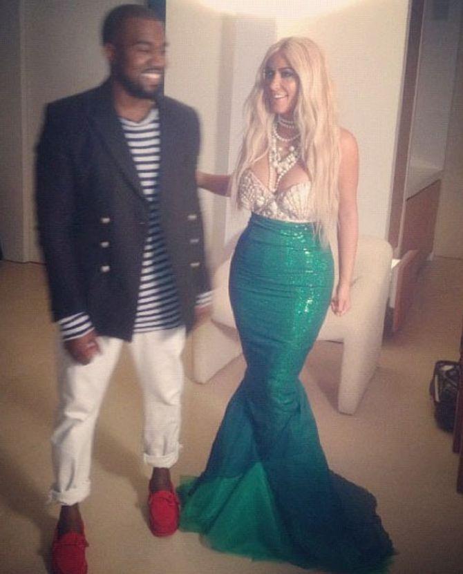 Kim Kardashian Kanye West Halloween costumes