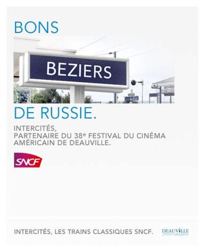SNCF : la campagne Sncf pour le festival de Deauville