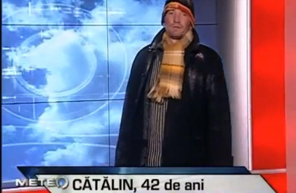 La météo présentée par des SDF pour sensibiliser le public à leur condition