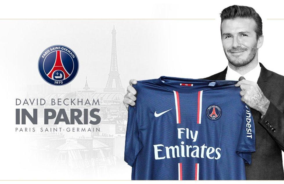 David Beckham : Shoppez son maillot du PSG (Photos)