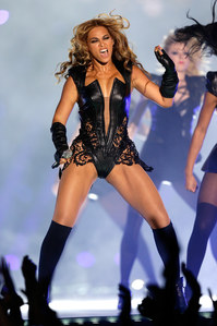 Beyoncé, Super bowl, look, body cuir