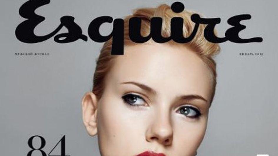 Scarlett Johansson : Chic et pulpeuse pour Esquire (Photos)