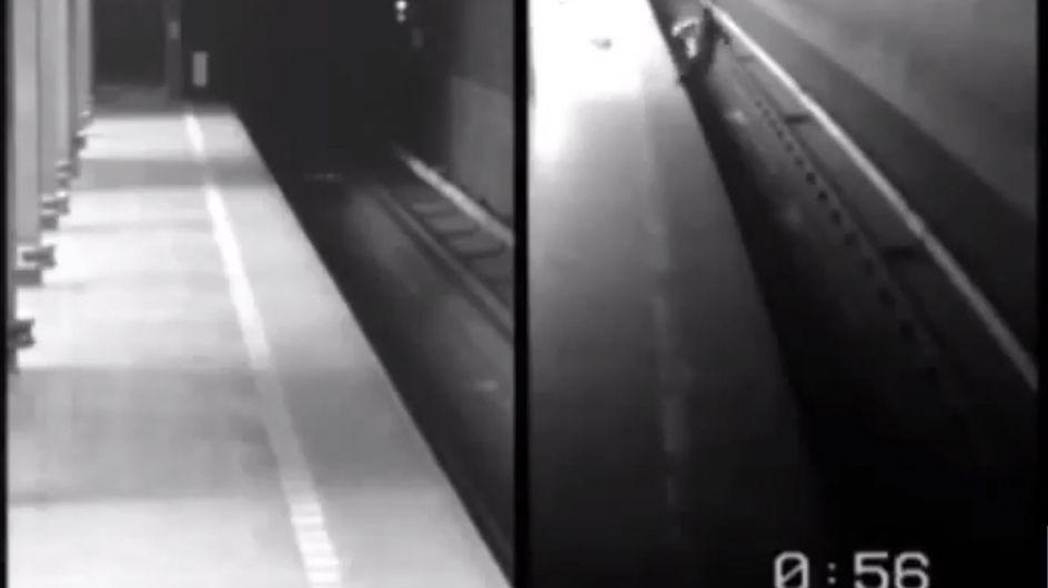 Elle survit après avoir été percutée deux fois par le métro (Vidéo)