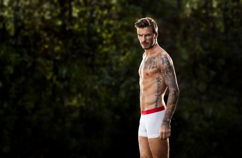 David Beckham : A nouveau en slip pour H&M ! (Photos)