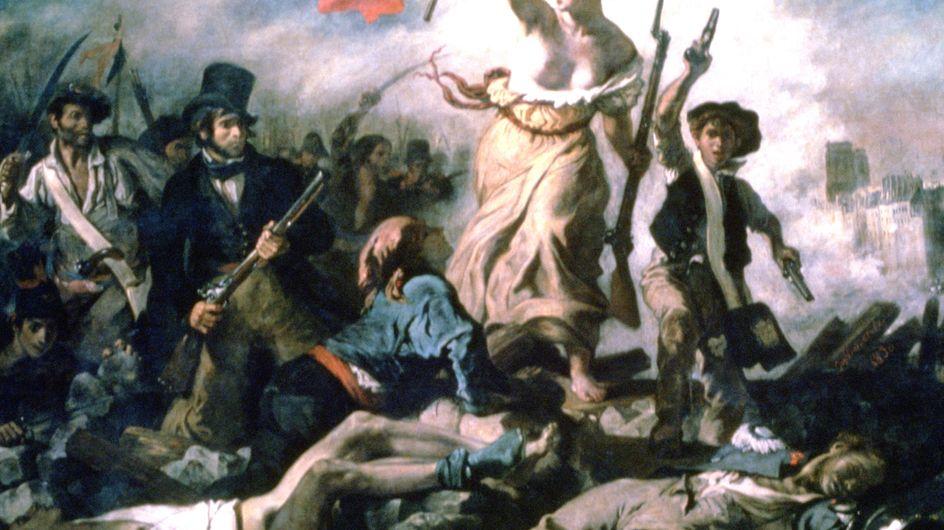 La liberté guidant le peuple, de Delacroix, taguée au feutre noir !