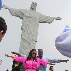 Kim Kardashian et Kanye West : De vrais touristes au Brésil ! (Photos)