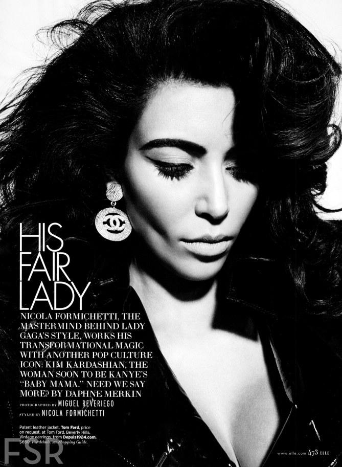 Kim Kardashian, enceinte, Elle