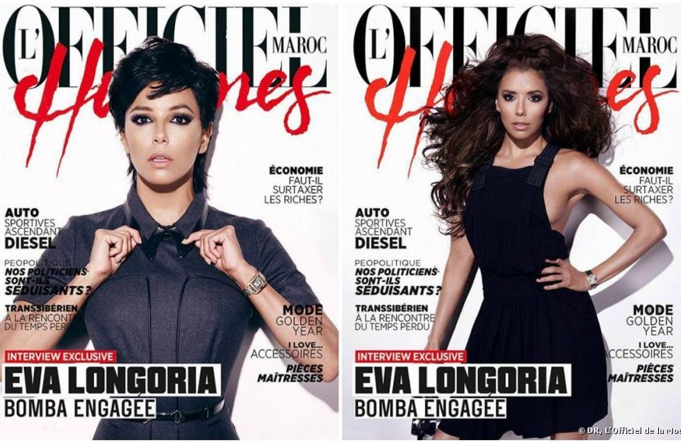 Eva Longoria : Coupe garçonne pour L'Officiel (Photo)