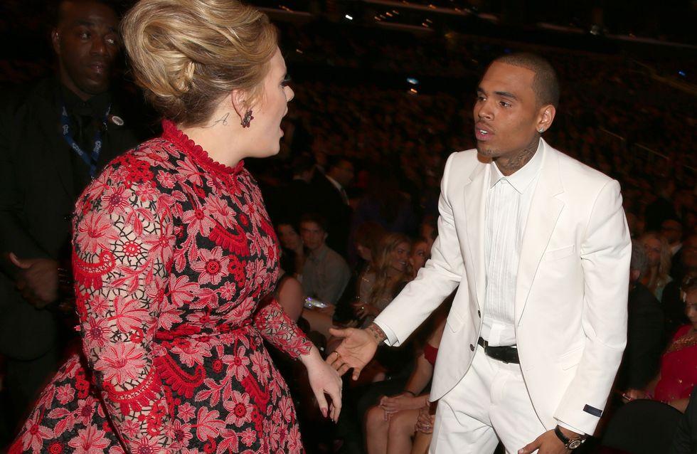 Adele : Elle est très fâchée contre Chris Brown