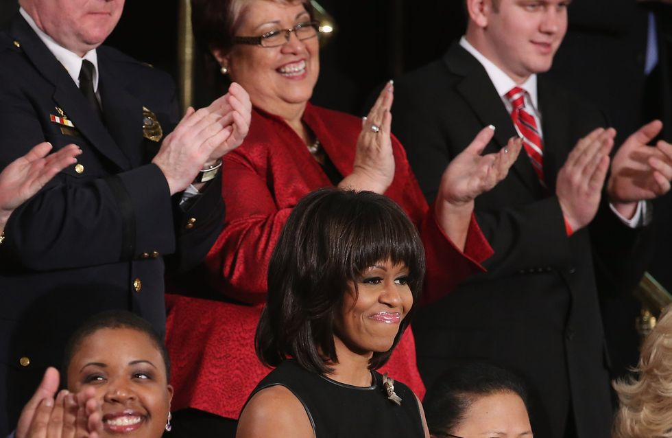 Michelle Obama : Sa robe crée la polémique (Photos)