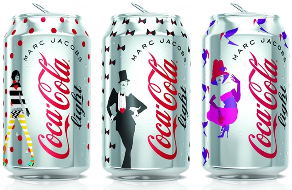 Coca-Cola Light et Marc Jacobs : Le design des canettes révélé ! (Photo)