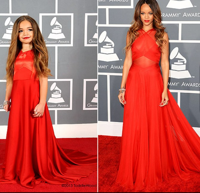 Rihanna et sa mini réplique