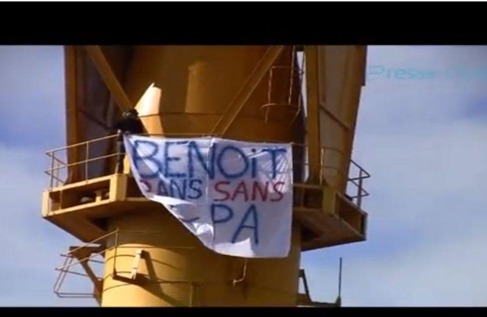 Nantes : Deux pères de famille retranchés dans des grues