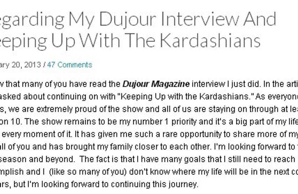 Kim Kardashian : Elle arrête la télé-réalité !