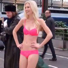 Le challenge Etam Lingerie : Courir à moitié nue dans une gare (Vidéo)