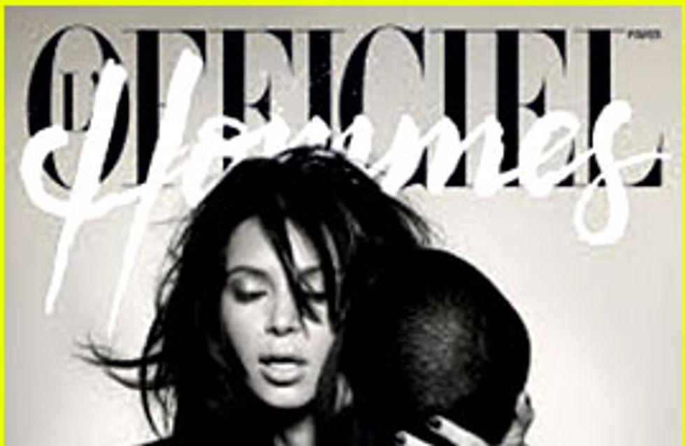 Kim Kardashian et Kanye West : Nus en couverture de L'Officiel (Photos)