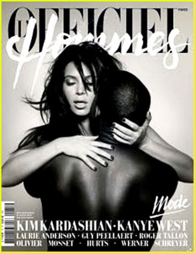 kim kardashian kanye west, l'officiel, nus