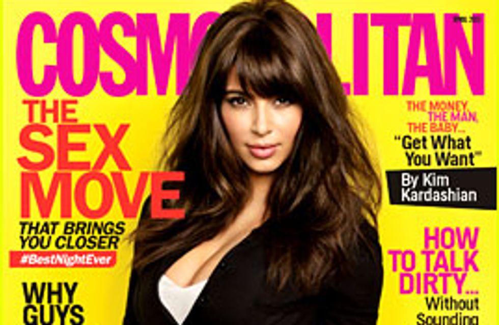 Kim Kardashian : En petite culotte et canon pour le Cosmopolitan (Photo)