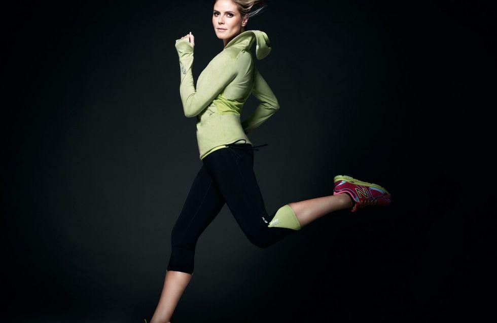 Heidi Klum : Sportive chic pour New Balance (Photos)