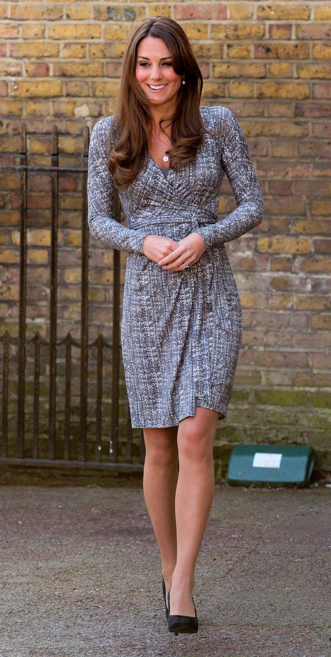 Kate Middleton, future-maman stylée