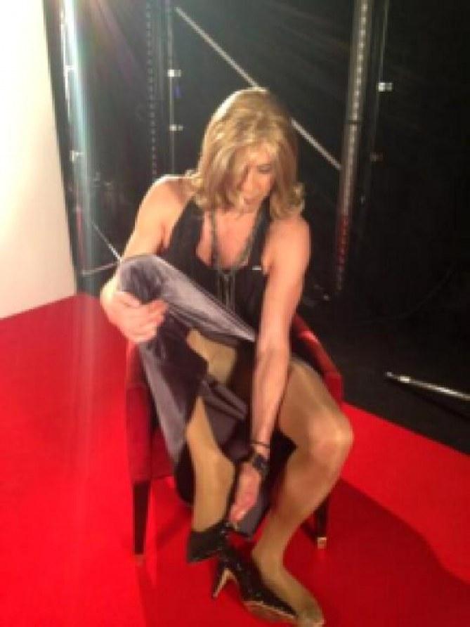 Julien Courbet déguisé en femme