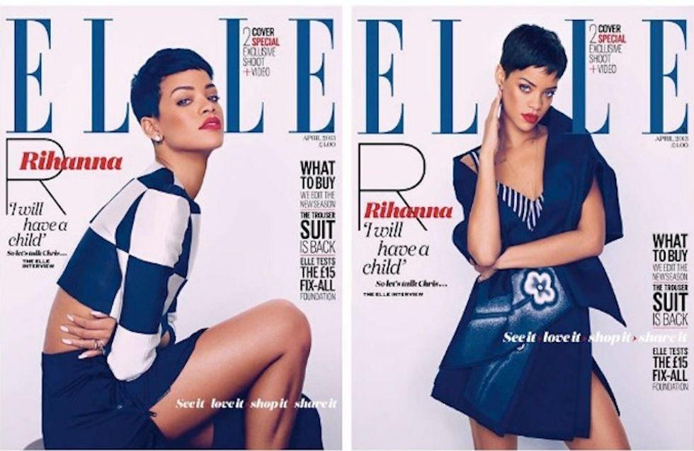Rihanna : Simple et sensuelle en couverture du Elle UK (Photos)