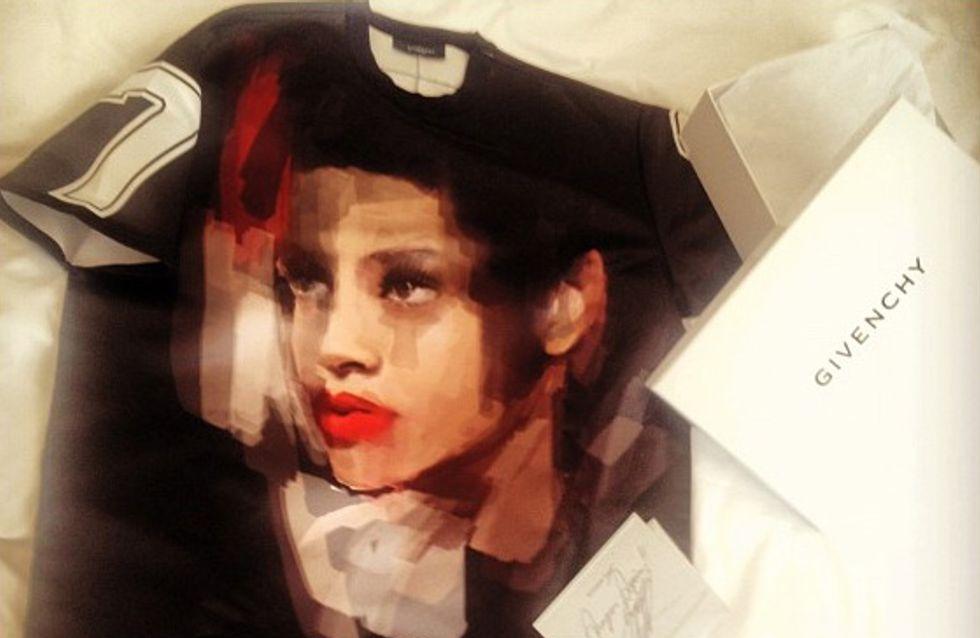 Rihanna : Givenchy lui offre un t-shirt à son effigie !