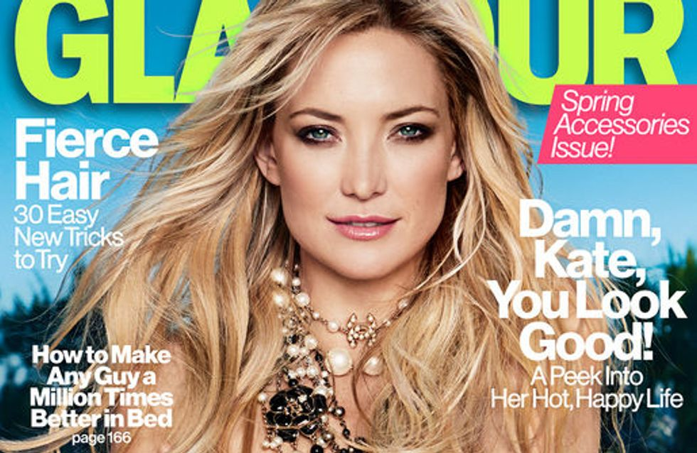 Kate Hudson : Topless en couverture de Glamour (Photos)
