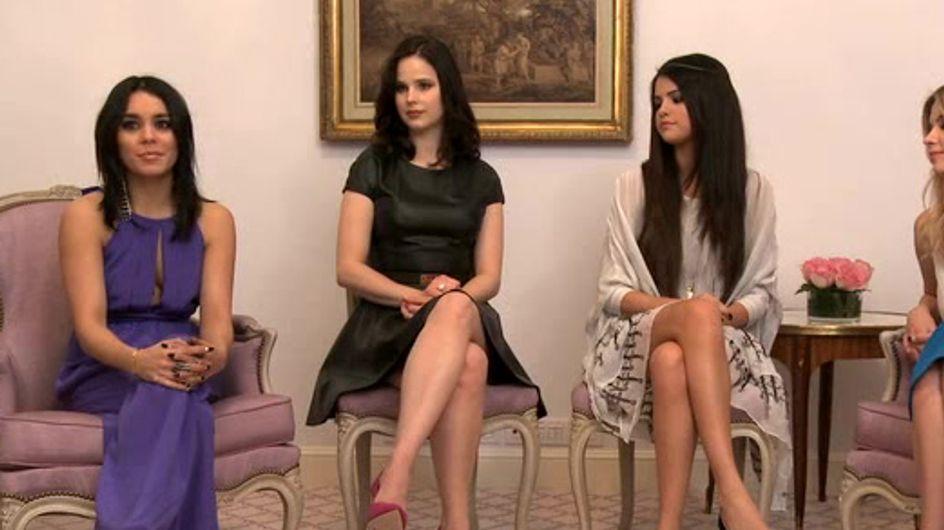 Selena, Vanessa, Ashley et Rachel disent tout sur les scènes trash de Spring Breakers ! (Vidéo)