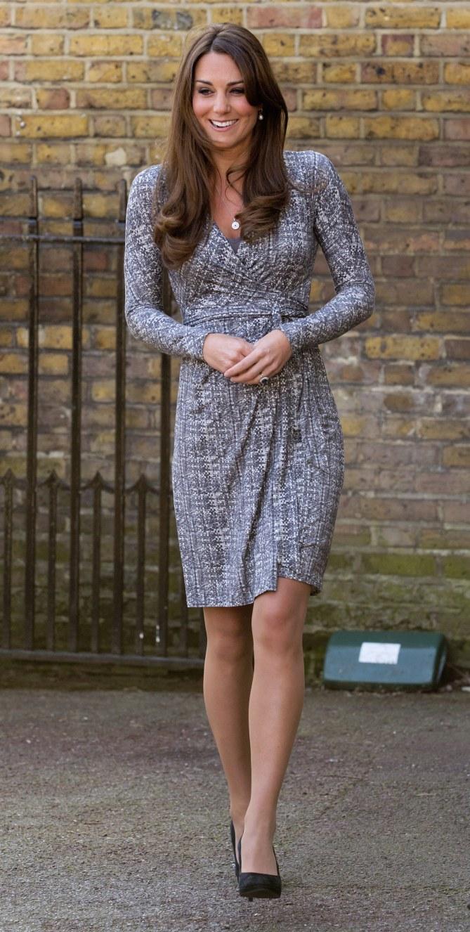 Kate Middleton dans sa robe Max Mara