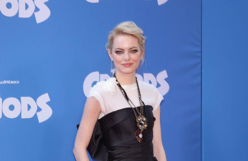 Emma Stone : Un t-shirt sous une robe bustier, vraiment ?
